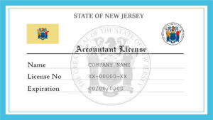 Sample New Jersey Accountant License
