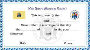 Sample New Jersey Marriage License