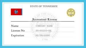 Sample Tennessee Accountant License