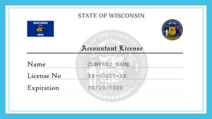 Sample Wisconsin Accountant License