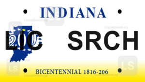 Sample Indiana License Plate Lookup