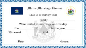 Sample Maine Marriage License