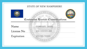 Sample New Hampshire Contractor License Classifications