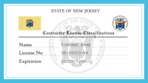 Sample New Jersey Contractor License Classifications