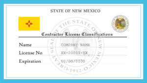 Sample New Mexico Contractor License Classifications