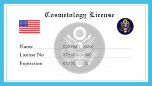 Sample US Cosmetology License