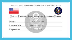 Sample US Federal Firearms, Ammunition, And Explosives License