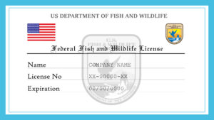 Sample US Federal Fish And Wildlife License