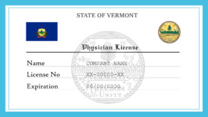 Sample Vermont Physician License