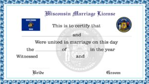 Sample Wisconsin Marriage License