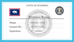 Sample Wyoming Electrician License