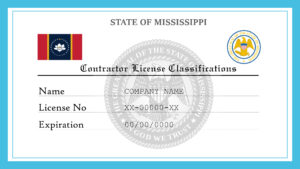 Sample Mississippi Contractor License Classifications