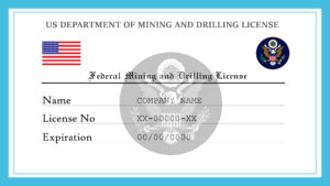 Sample US Federal Mining And Drilling License