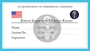 Sample US Federal Commercial Fisheries License