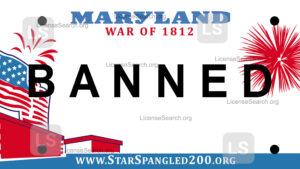 Sample Maryland Banned License Plates