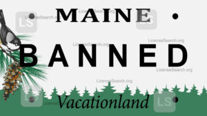 Sample Maine Banned License Plates