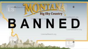 Sample Montana Banned License Plates