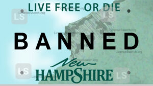 Sample New Hampshire Banned License Plates