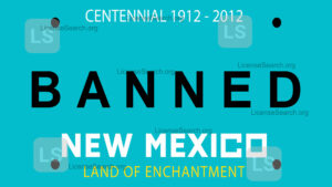 Sample New Mexico Banned License Plates