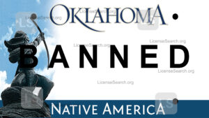 Sample Oklahoma Banned License Plate
