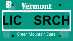 Sample Vermont License Plate Lookup